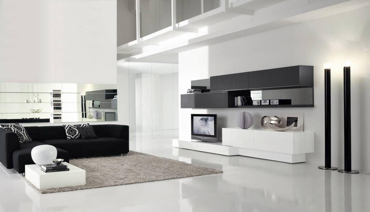 idées de décoration de salon de haute technologie