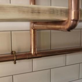 comment cacher un tuyau de gaz dans la photo de décor de cuisine