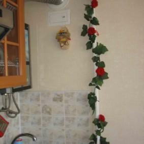 comment cacher un tuyau de gaz dans les idées de décoration de cuisine