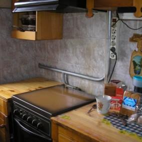 comment cacher un tuyau de gaz dans la photo de conception de cuisine