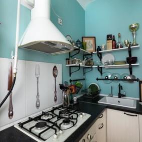 comment cacher un tuyau de gaz dans les espèces de photos de cuisine