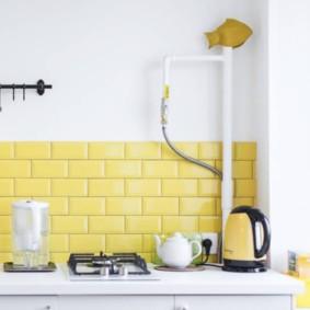 comment cacher un tuyau de gaz dans les idées de cuisine