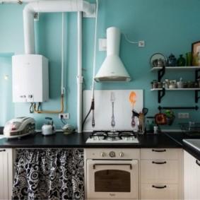 comment cacher un tuyau de gaz dans les idées d'idées de cuisine