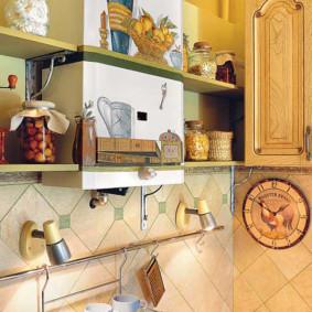 comment cacher un tuyau de gaz à l'intérieur de la cuisine