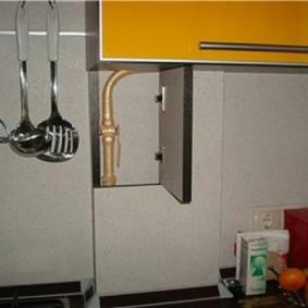 comment cacher un tuyau de gaz dans les idées d'intérieur de cuisine
