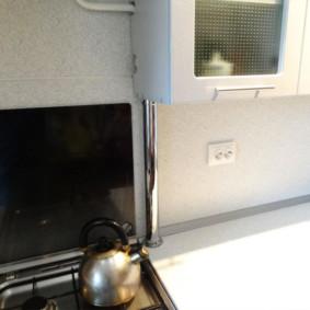 comment cacher un tuyau de gaz dans les idées de conception de cuisine