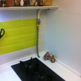 comment cacher un tuyau de gaz dans les options de photo de la cuisine