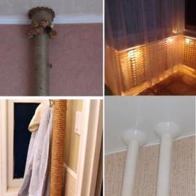 comment cacher un tuyau de gaz dans les types de photos de cuisine