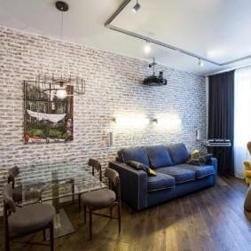 maçonnerie dans la décoration photo de l'appartement