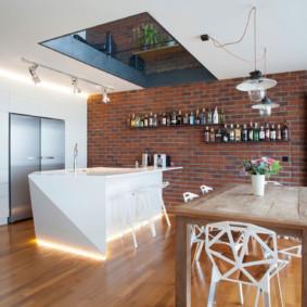 maçonnerie dans les idées d'appartements