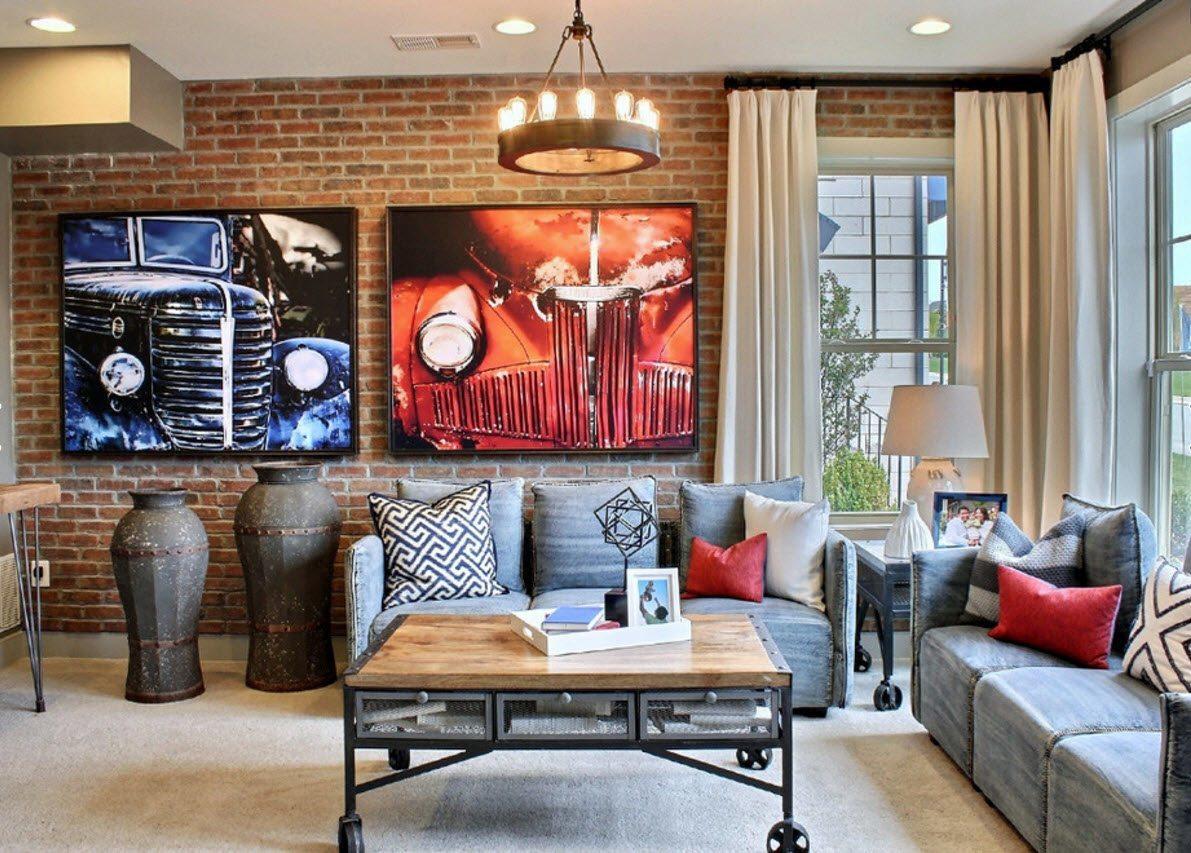 maçonnerie dans les idées de décoration de l'appartement