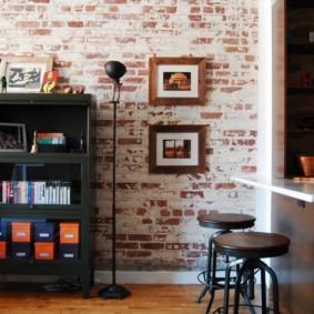 maçonnerie dans les options d'idées d'appartement
