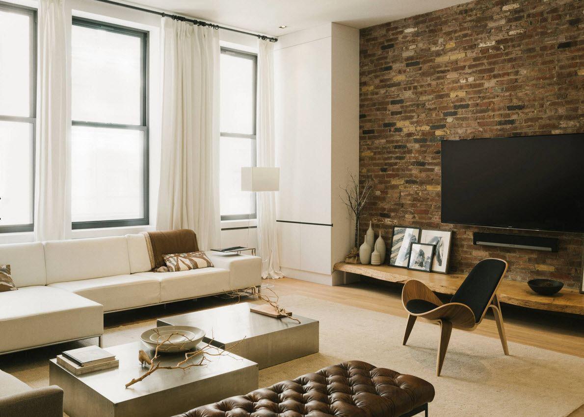 maçonnerie dans la photo de conception de l'appartement