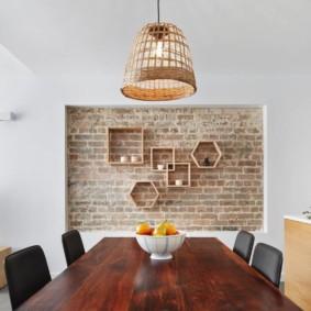 maçonnerie dans le décor photo de l'appartement