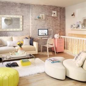 mur de briques salon idées de décoration