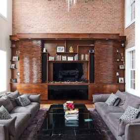 mur de briques dans le salon idées intérieures