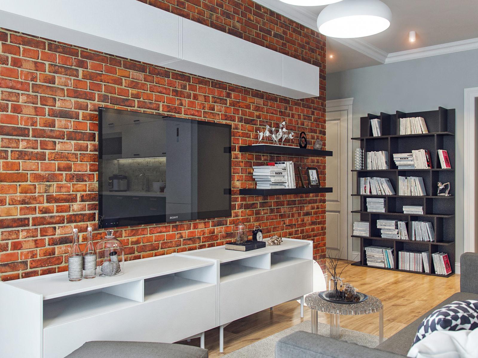 mur de briques à l'intérieur