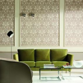 combinaison de papier peint dans le salon photo