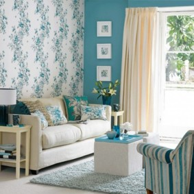 combinaison de papier peint dans le salon photo intérieur