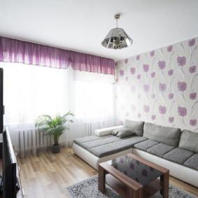 combinaison de papier peint dans les options de photo du salon