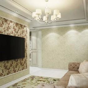 combinaison de papier peint dans les vues photo du salon