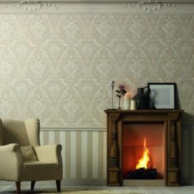combinaison de papier peint dans les idées d'intérieur du salon