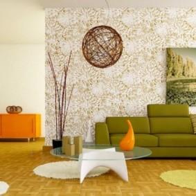 combiner le papier peint dans les idées de salon