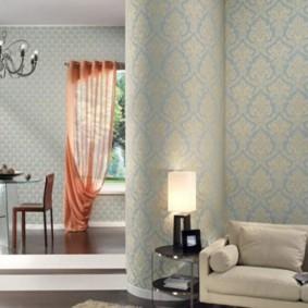 combinaison de papier peint dans le salon sortes d'idées