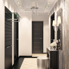 couloir dans la photo de décor de l'appartement