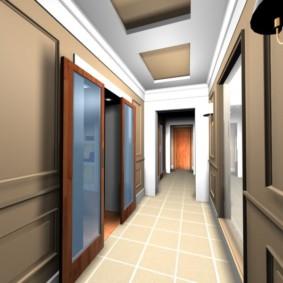 couloir dans les idées de décoration d'appartement