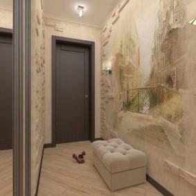 couloir dans le décor photo de l'appartement
