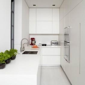 Cuisine minimaliste étroite