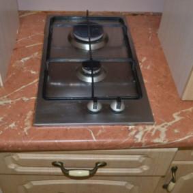 Table de cuisson à gaz étroite