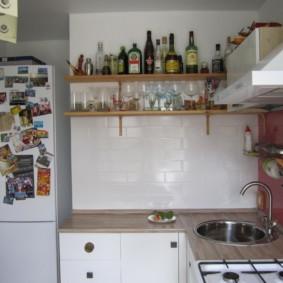 Réfrigérateur à double chambre dans la niche murale