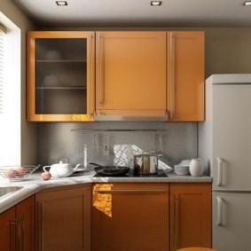 Place pour un réfrigérateur dans le coin de la cuisine