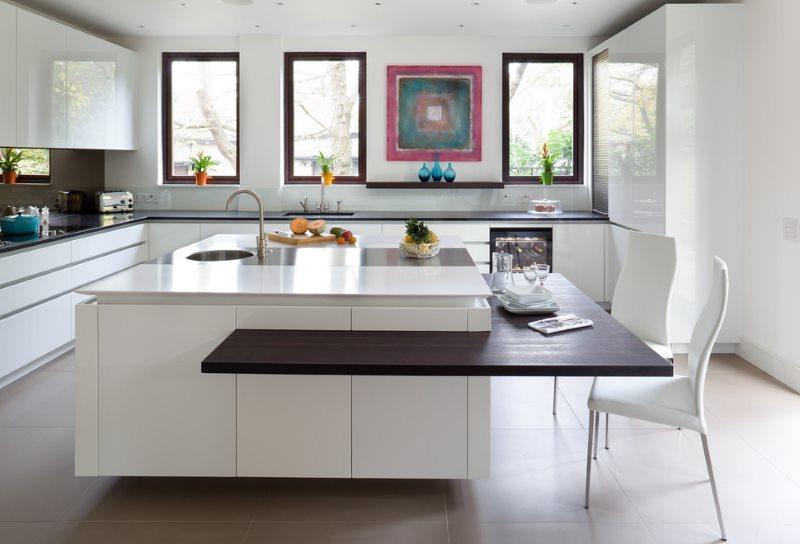 مطبخ جزيرة الفن الحديث