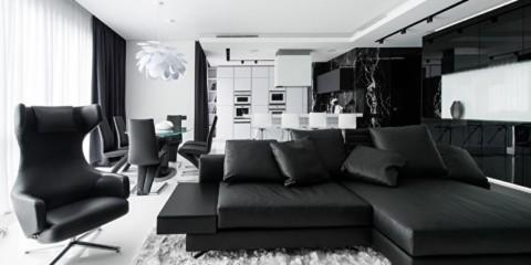 idées d'intérieur appartement noir et blanc