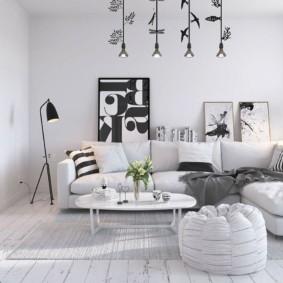 options d'idées d'appartement de style scandinave
