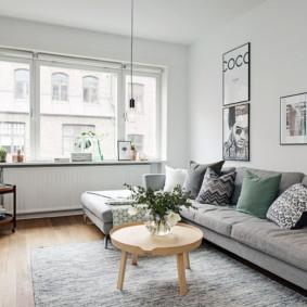 intérieur de l'appartement de style scandinave