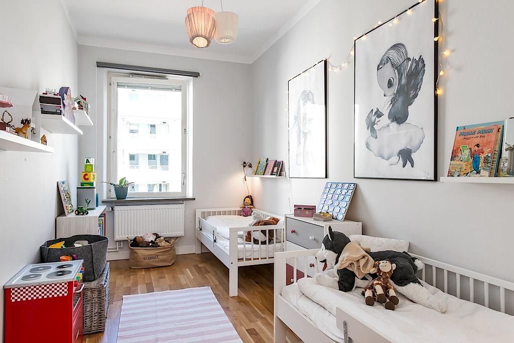 vue de l'appartement de style scandinave