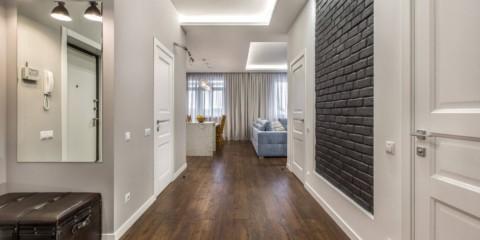 revêtement de sol stratifié dans les options de photo de couloir