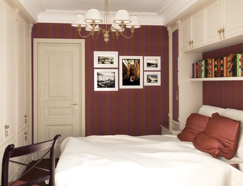Décor de peintures murales dans une petite chambre