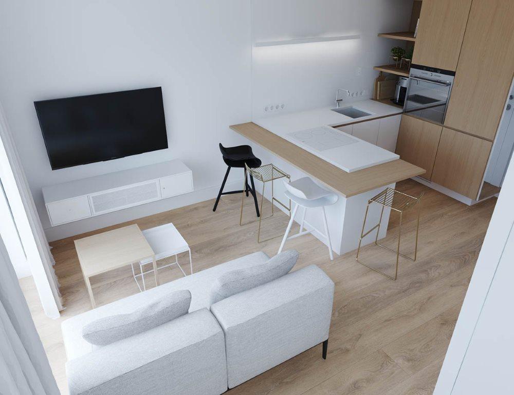Conception de studio minimaliste