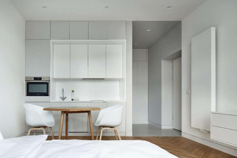 La conception de l'espace cuisine dans le studio
