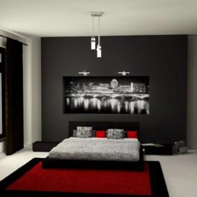 décor de chambre à coucher pour hommes
