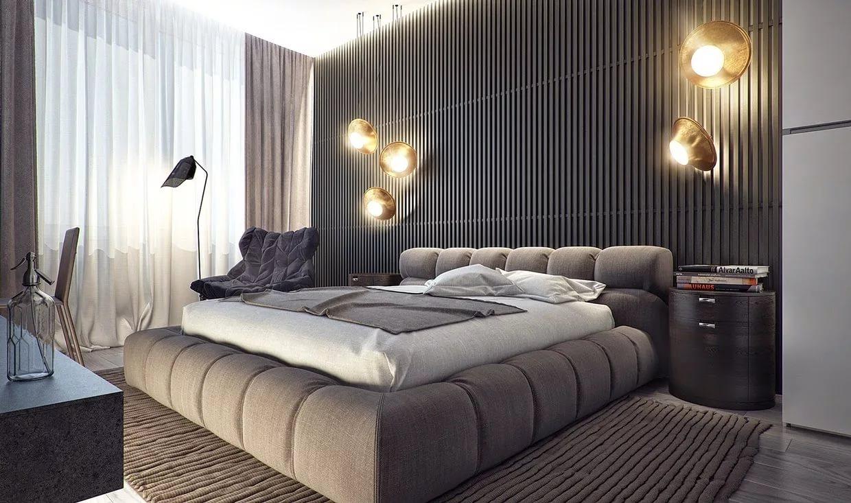idées de chambre à coucher pour hommes vues
