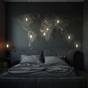 types de chambre à coucher pour hommes photo