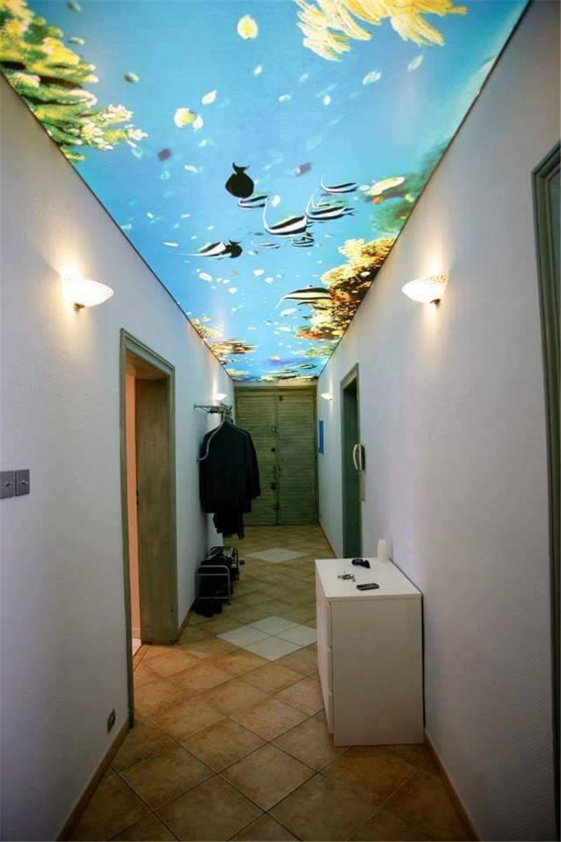 plafond suspendu dans le couloir de l'idée de l'espèce