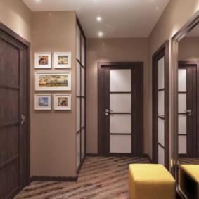 plafond tendu dans les vues du couloir