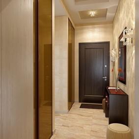 photo de conception de couloir de plafond tendu